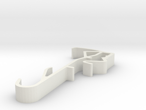 Blind Valance Clip 12 in White Natural Versatile Plastic