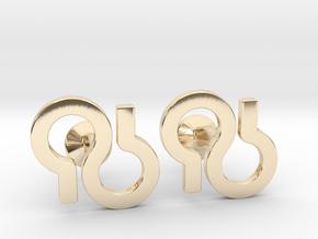 Custom Logo Cufflinks in 14K Yellow Gold