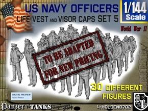 1-144 USN Officers KAPOK Set5 in Transparent Acrylic