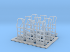 Hand truck 01. 1:64 Scale in Smooth Fine Detail Plastic