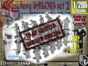 1-285 Generic Royal Navy Sailors Set 2 in Transparent Acrylic