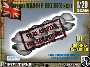 1-20 Brodie Helmet Set1 in Transparent Acrylic