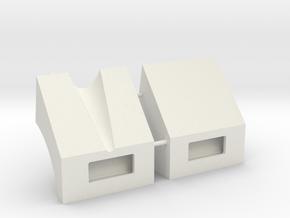 1/18 M113 Mudguards in White Natural Versatile Plastic