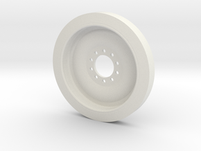 1/18 M113 Spare Wheel in White Natural Versatile Plastic