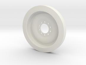 1/18 M113 Spare Wheel in White Natural Versatile Plastic