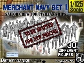 1/125 Merchant Navy Crew Set 1 in Transparent Acrylic