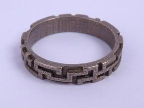 A maze ring (from $12.50) in Stainless Steel