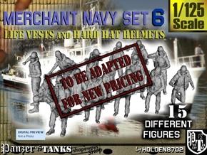 1-125 Merchant Navy Set 6 in Transparent Acrylic