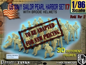 1-96 US Navy Pearl Harbor Set 17 in Transparent Acrylic