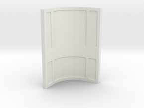 Wall, Corner, Concave (Space: 1999), 1/30 in White Natural Versatile Plastic
