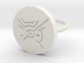 Dishonored Ring in White Natural Versatile Plastic