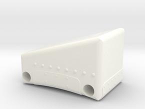 Lunar Module Armrest in White Processed Versatile Plastic