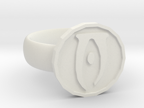 Oblivion Ring in White Natural Versatile Plastic