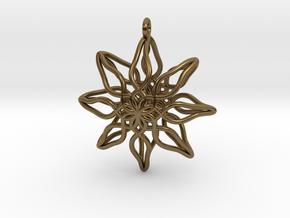 Change Flower Pendant in Polished Bronze