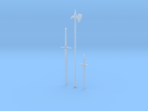"""""""BotW"""" Rusty Weapons Set in Smooth Fine Detail Plastic: 1:12"""