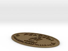 Pearson Badge 268 in Natural Bronze