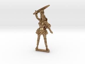 Elf Noblewoman RPG tabletop Mini 28mm  in Natural Brass