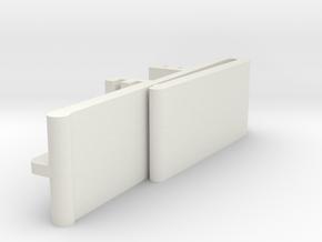 Vertical Valance Clip Delmar 01 in White Strong & Flexible