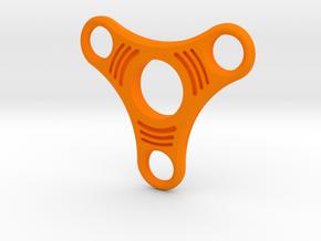 Tri Lobe Fidget Spinner -  (Large) in Orange Processed Versatile Plastic