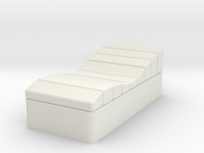 Single Contour Bed, Quarters  (Space: 1999), 1/30 in White Natural Versatile Plastic