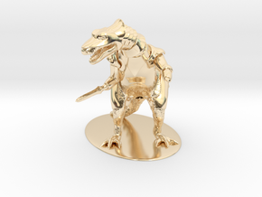 K'Chain Che'Malle Miniature in 14k Gold Plated Brass: 1:55