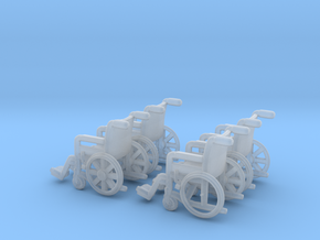 Wheelchair 01.  N Scale (1:160) in Frosted Extreme Detail
