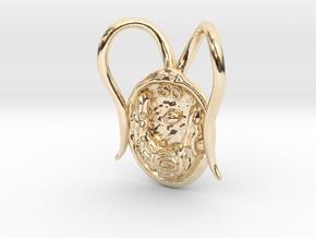 Chlamydomonas Pendant - Science Jewelry in 14k Gold Plated Brass