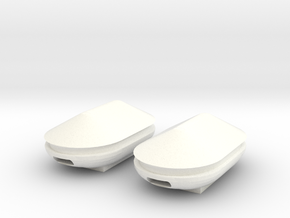 Docking Bay Tanks, 1:43 in White Strong & Flexible Polished