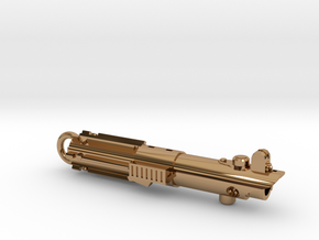 Graflex keychain - version 01 in Polished Brass