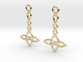 Celtic Weave Earrings - WE024 in 14k Gold Plated Brass