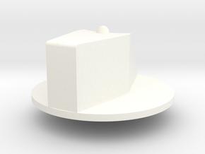 LM Control Knob 37mm in White Processed Versatile Plastic