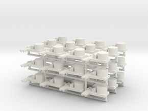 Small Naval Base x36 (WSF) in White Strong & Flexible