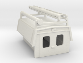 Utility Enclosure RPS Truck Bed With Ladder/Pipe 1 in White Natural Versatile Plastic: 1:87