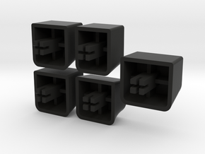 Spare StenoToppers Set in Black Natural Versatile Plastic