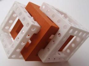 Little Maze N-Cube in White Natural Versatile Plastic