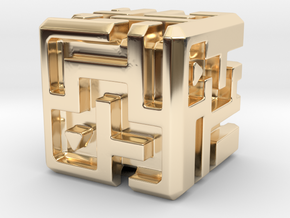 Sculpture: MAZE in 14k Gold Plated Brass