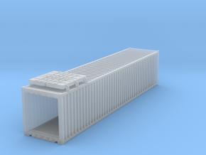 40' Container.HO Scale (1:87) in Smooth Fine Detail Plastic