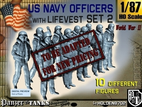 1-87 USN Officers KAPOK Set2 in Transparent Acrylic