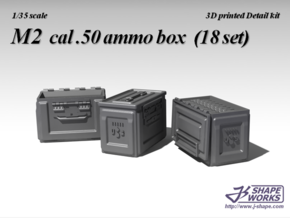 1/18 M2 cal.50 Ammo Box (9 set) in Frosted Ultra Detail