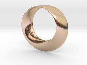 Mobius Strip Pendant in 14k Rose Gold