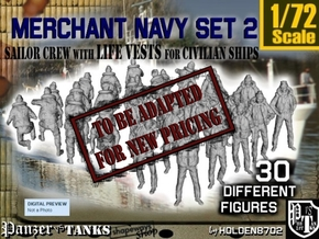 1/72 Merchant Navy Crew Set 2 in Transparent Acrylic