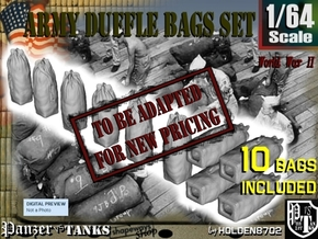 1-64 Army Duffle Bags Set1 in Transparent Acrylic