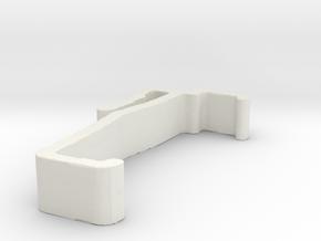 Blind Valance Clip 00141 in White Natural Versatile Plastic