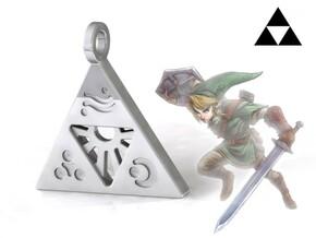 Zelda-Triforce Pendant in Polished Silver