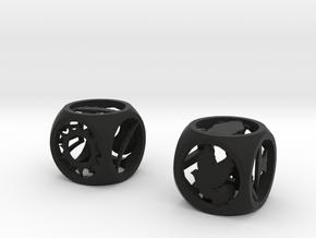 Percy Jackson Dice in Black Natural Versatile Plastic