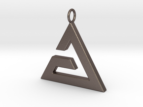 Aard Pendant in Polished Bronzed Silver Steel