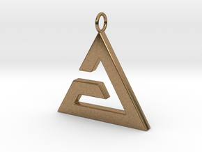 Aard Pendant in Natural Brass