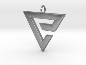 Quen Pendant in Natural Silver