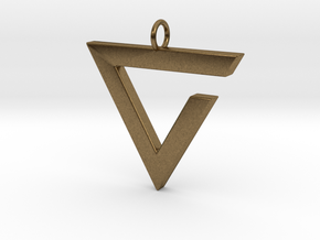 Axii Pendant in Natural Bronze