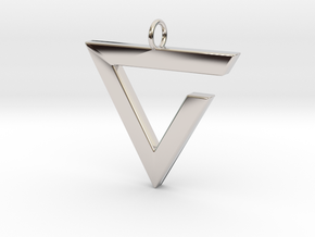 Axii Pendant in Rhodium Plated Brass